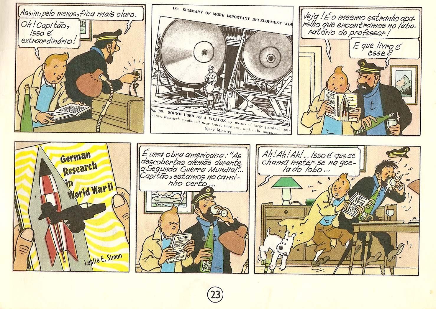 Tintin Comics French Tintin and Infrasound ...